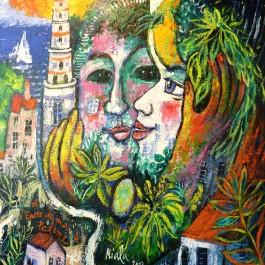 A L'ENCRE DE MA PALETTE 4 - 2012 - NIALA - Acryl sur toile 61x50 002