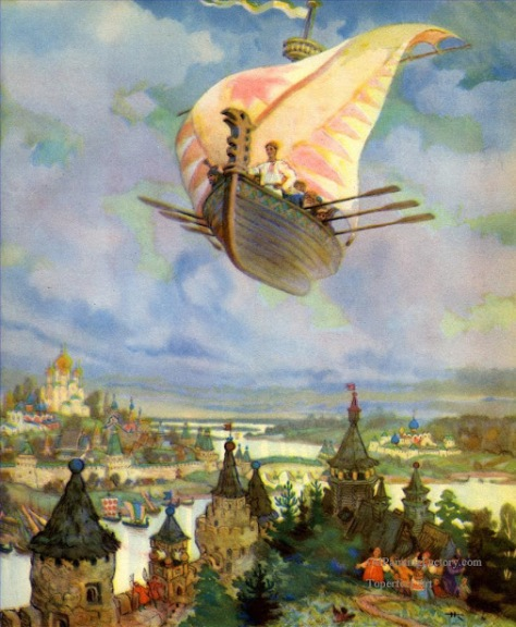 7-Russian-nicolai-kochergin-the-flying-ship-Fantasy