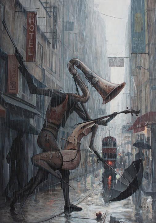 Life is a Dance in The Rain III by Adrian borda