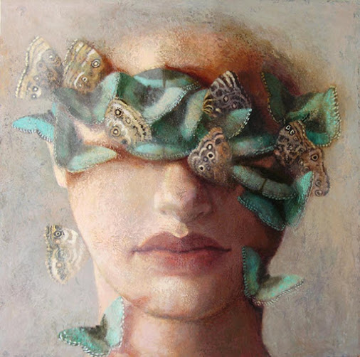 Laurie Kaplowitz blue-morpho-mask