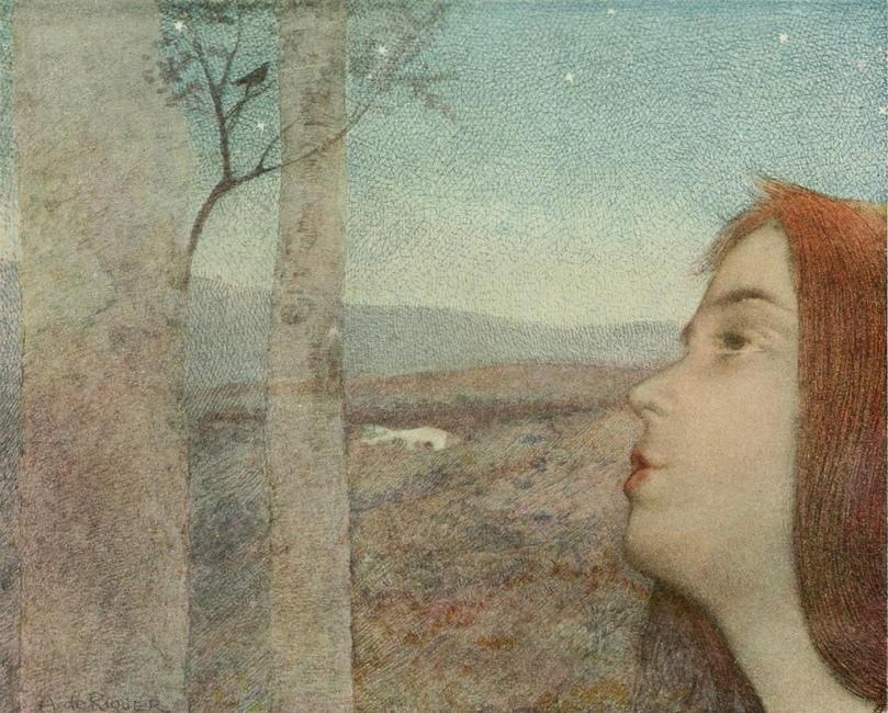 Alexandre de Riquer - L_appel de l_oiseau via colourthysoul.tumblr.com