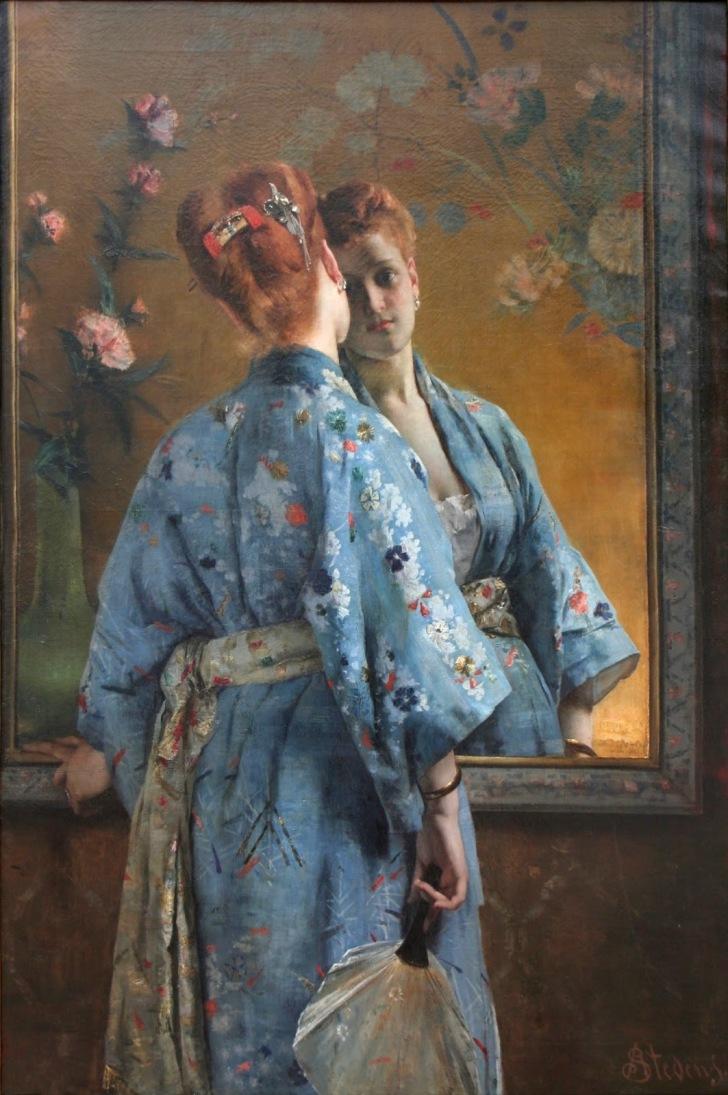 Alfred_Stevens_-_La_Parisienne_japonaise - wiki
