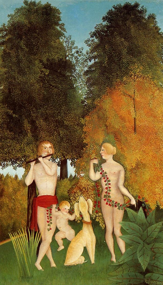 Henri Julien F_lix Rousseau - Happy Quartet