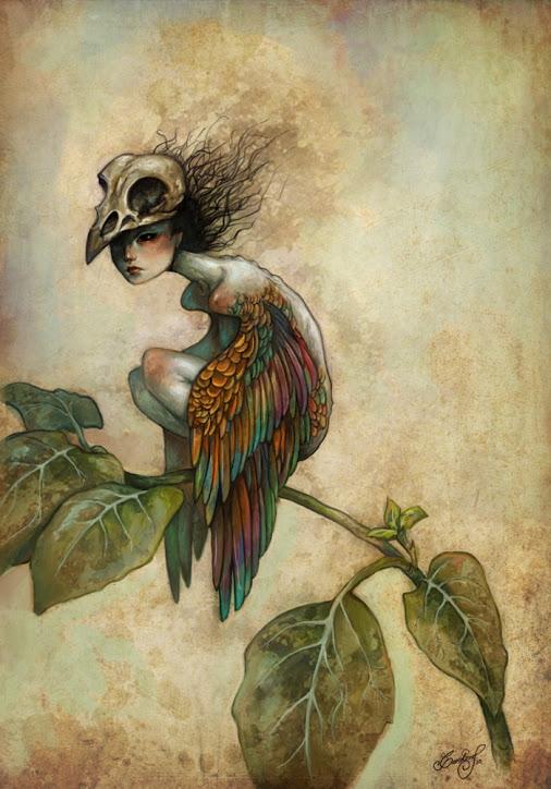 Soul of a Bird_Caroline Jamhour aka Lua Turquesa_painting