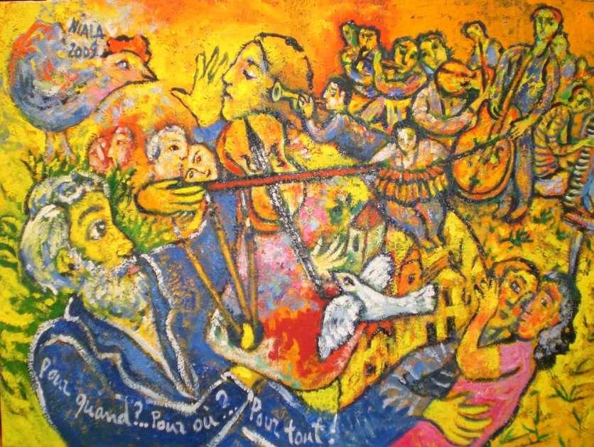 POUR QUAND... POUR OU...POUR TOUT...2009 Huile s toile 61 x 46 001