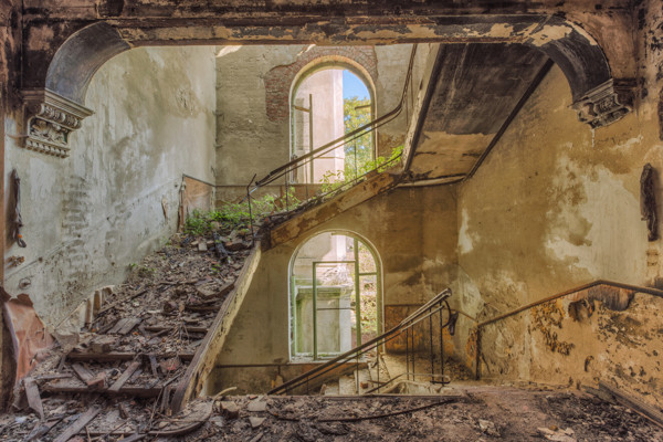 old abandoned staircase