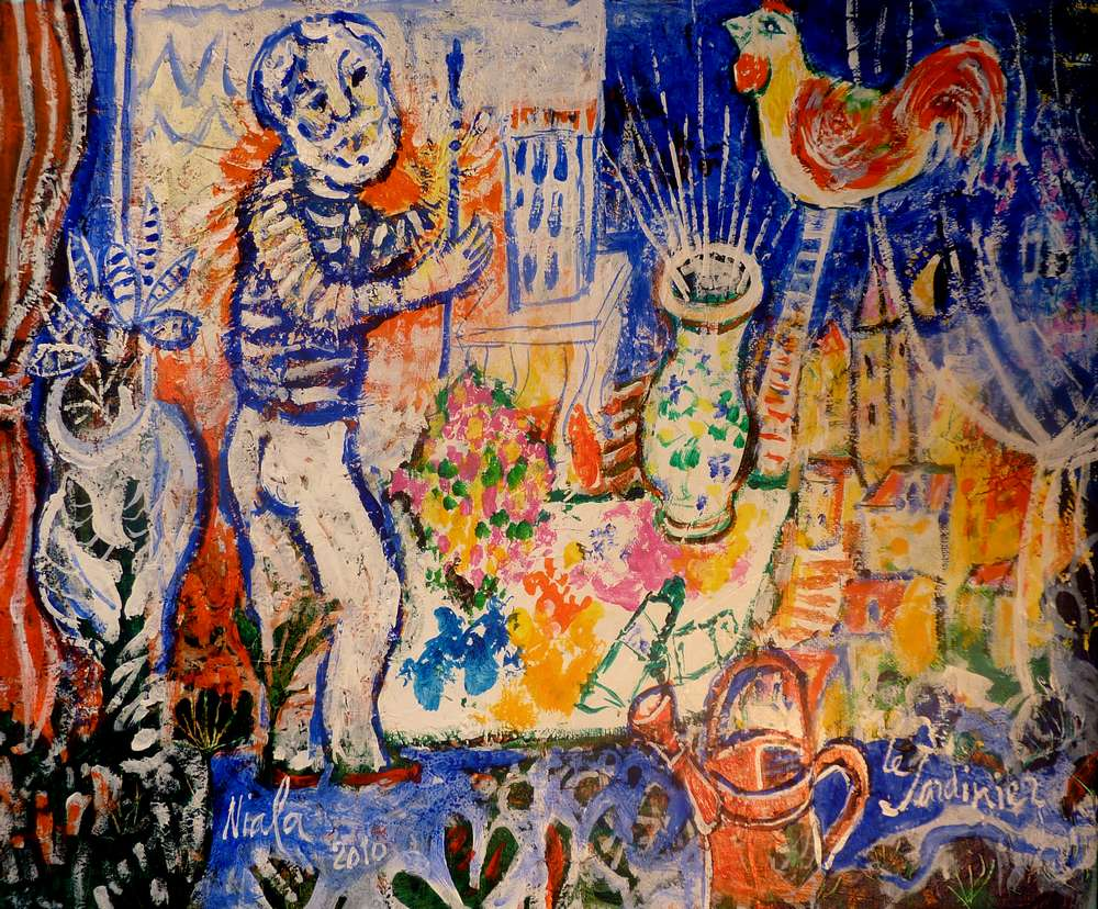LE JARDINIER - 2010 - NIALA - Acrylique sur toile 46 x 38 003