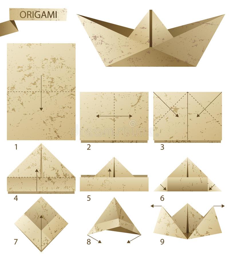 instruction-de-étapes-comment-faire-le-bateau-de-papier-30151649
