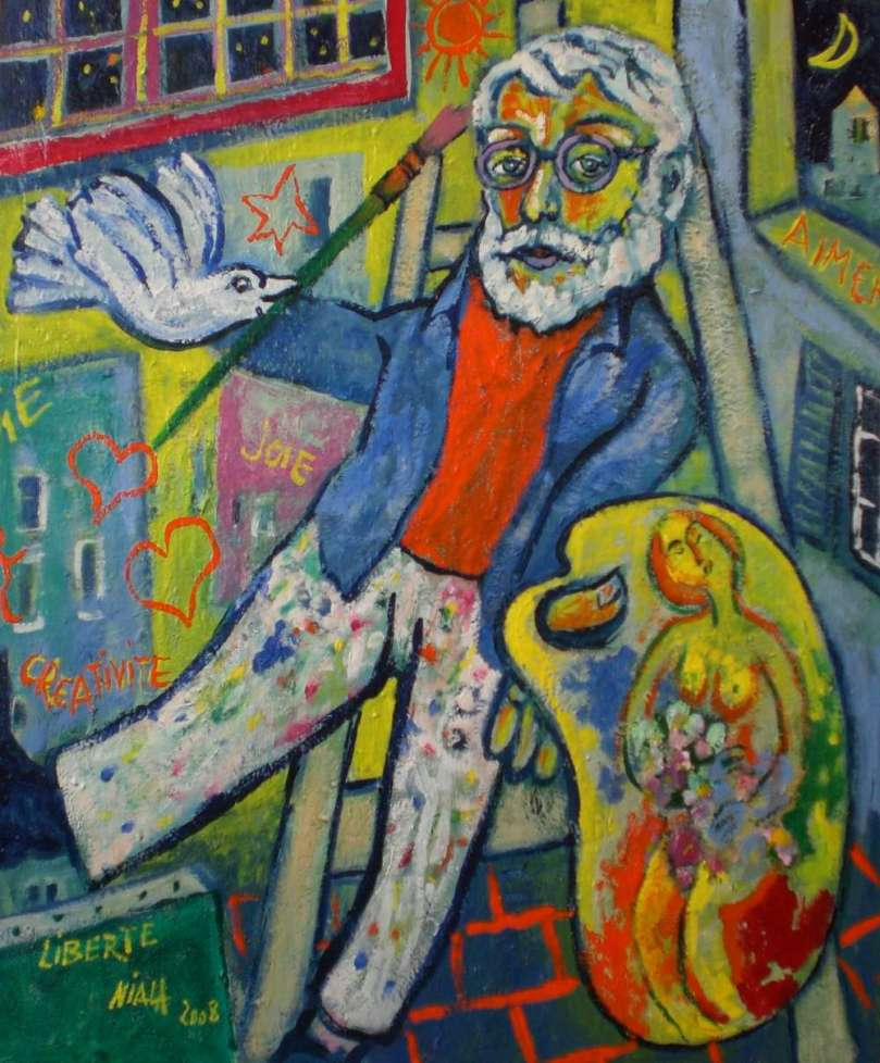 LIBERTE Autoportrait 2008 huile 61x50