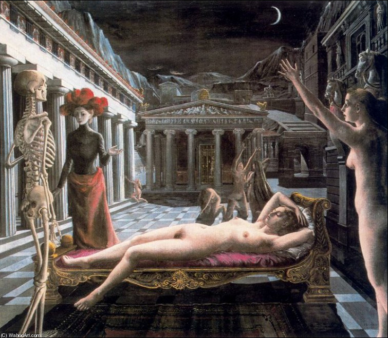 Paul+Delvaux+-+The+Sleeping+Venus+