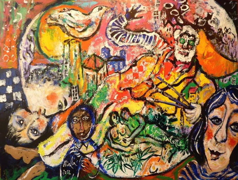 A L'ENCRE DE MA PALETTE - 2012 - NIALA - Acrylique sur toile 65x50